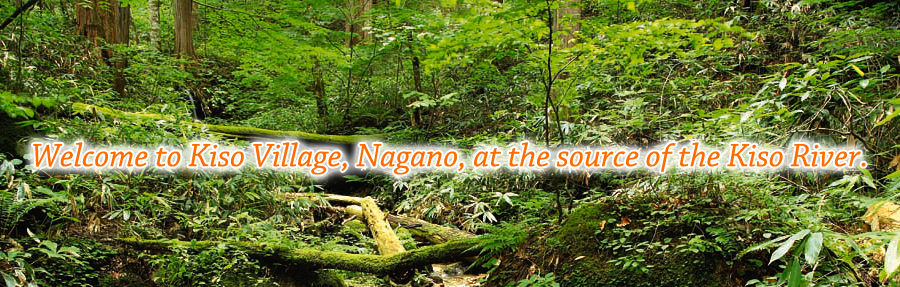 Welcome to Kiso Village, Nagano, at the source of the Kiso River.
